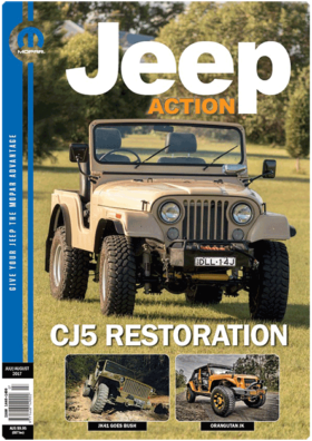 Jeep Action Magazine cover page - July August 2017 edition