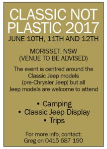 Classic not Plastic 2017